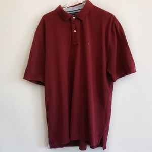 Men's Tommy Hilfiger maroon polo shirt